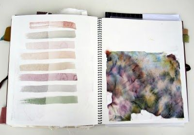 watercolor on tissues, document all the pigments you used
