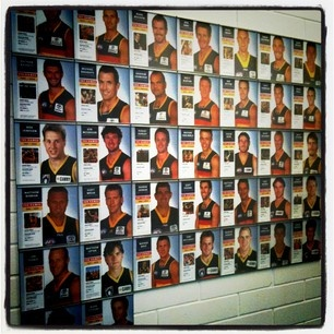 The Crows' 100 game plus wall