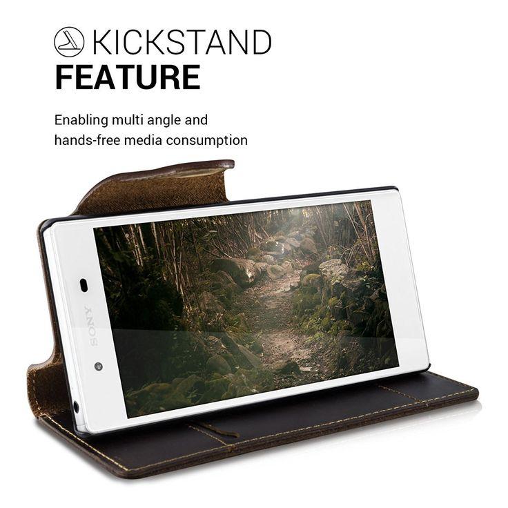 kalibri Echtleder Wallet Hülle für Huawei P9: Amazon.de: Elektronik