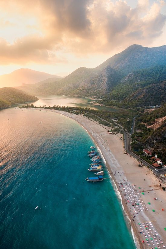 Sunset Oludeniz - a beach, Turkey...