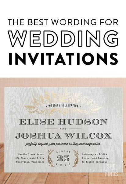 The right way to word wedding invitations