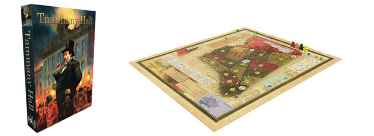 Awesome historic map and bootiful Tammany Hall board art.