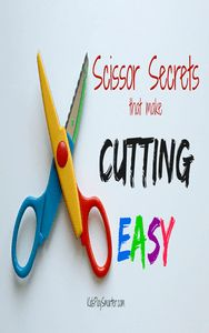 Learn these scissor secrets to make cutting easy for your child.  Tips include ideas for hand strengthening, wrist positioning, and visual cues.