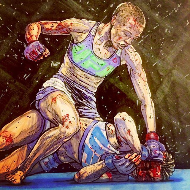 Female mma fanart Instagram photo by @gorilla_the_bear via ink361.com