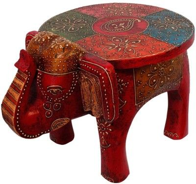 Halowishes Wooden Stool Showpiece - 24 cm Price in India - Buy Halowishes Wooden Stool Showpiece - 24 cm online at Flipkart.com