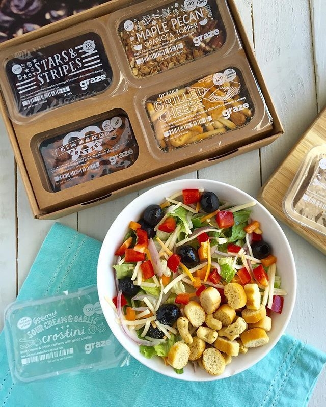 Summer salads with a crunch! Visit graze.com to hand pick your very own graze box!