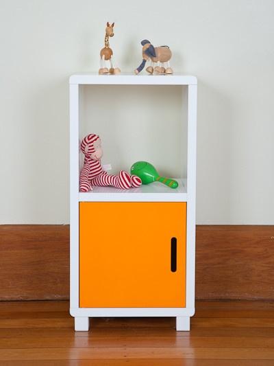 Storage Unit - Two Cubes Orange Doors