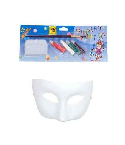 Μάσκα ζωγραφικής ματιών Paper Mache 1/4 Με Χρώματα