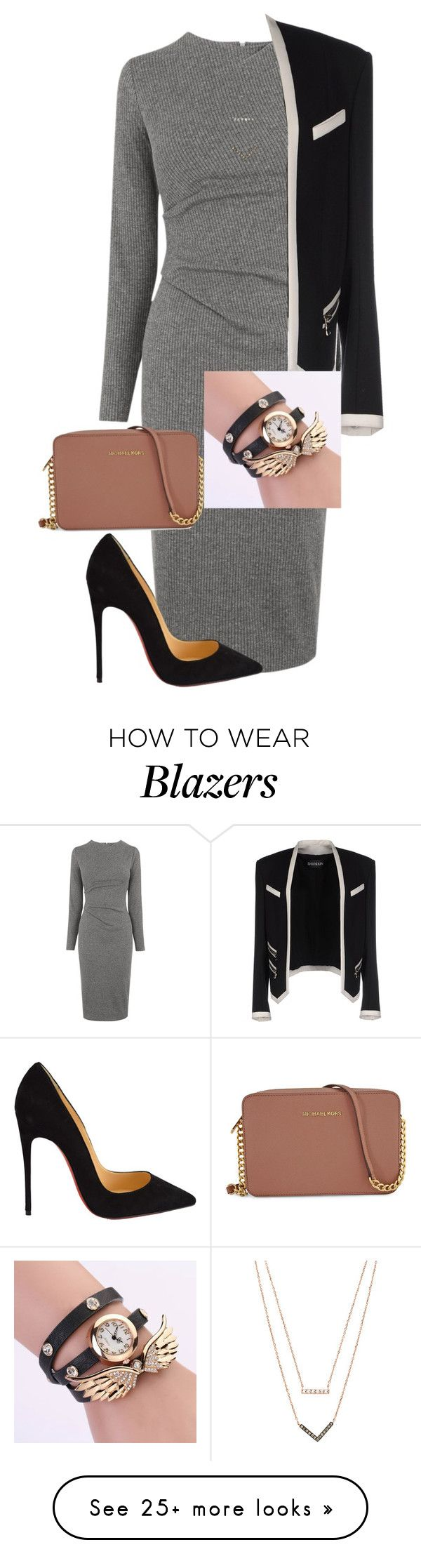 """""""Untitled #374"""" by samson-90 on Polyvore featuring Whistles, Christian Louboutin, Balmain, Michael Kors, women's clothing, women's fashion, women, female, woman and misses"""