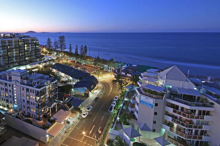 Mooloolaba, QLD - Over the town at twilight