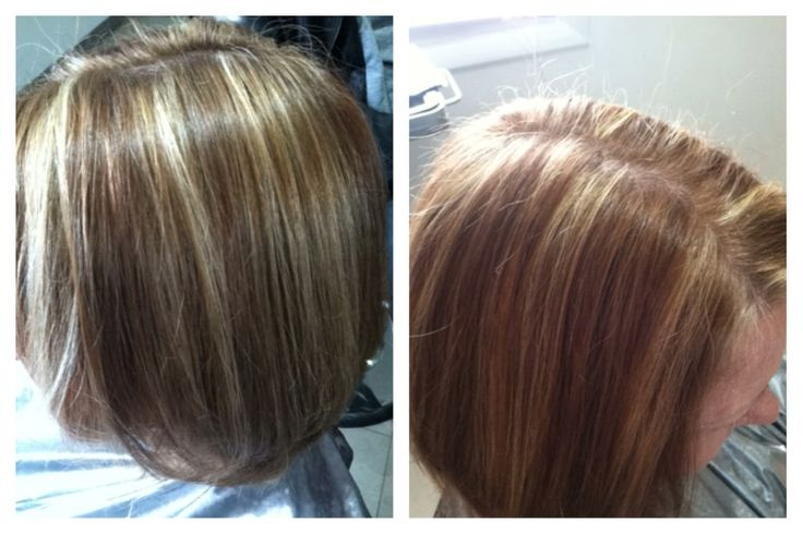 Low Lights And Highlights On My Mom Wella 6 73 Koleston W