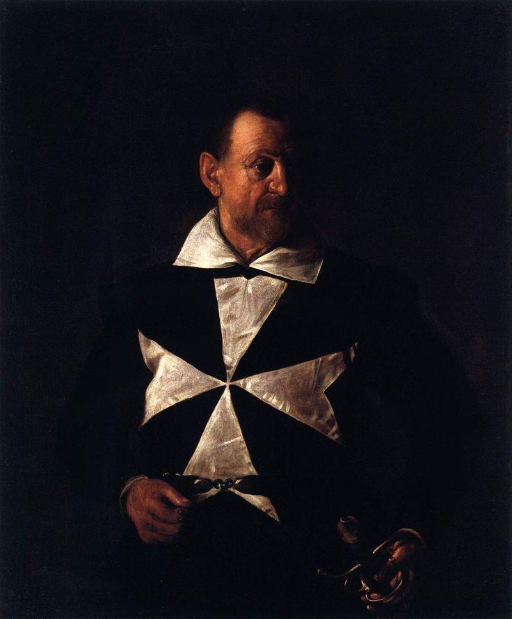 1608 Portret van een Maltezer Kruis, Galleria Palatino (Palazzo Pitti) in Florence, 119x96 cm