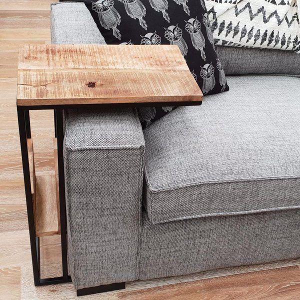 Design Meubels Outlet.Bijzettafel Industrieel Sofa Met Vak Houten Meubel Outlet In