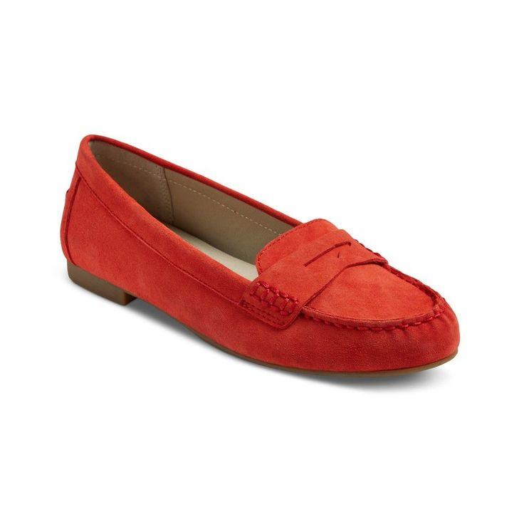 Women's Mountain Sole Matilda Suede Moccasins - Red 6.5