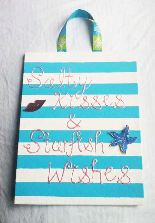 Beach Quote Canvas Painting by OniCreations on Etsy, $12.50