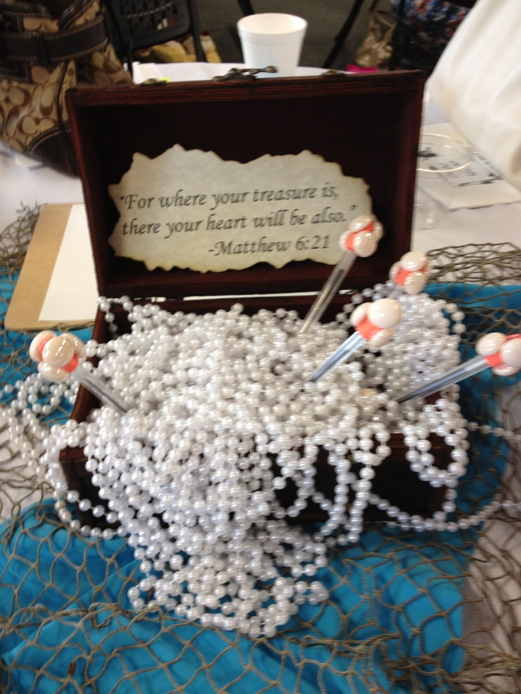 MOPS Church at the crossing Indianapolis PLUNGE theme table decor. Each table is a different precious stone.