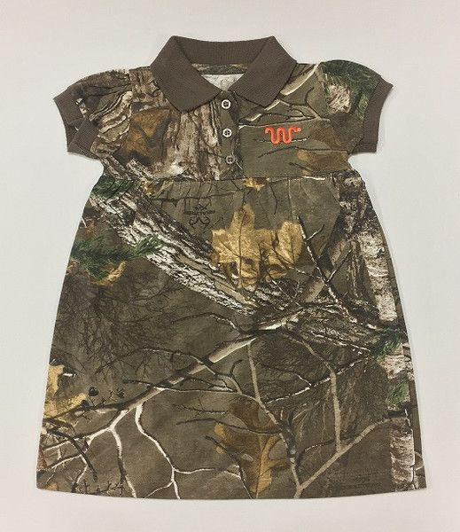 Realtree girls camo polo dress with orange Running W®. | King Ranch Saddle Shop