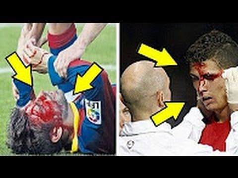 HORROR FOULS  & BRUTAL TACKLES Cristiano Ronaldo and Lionel Messi
