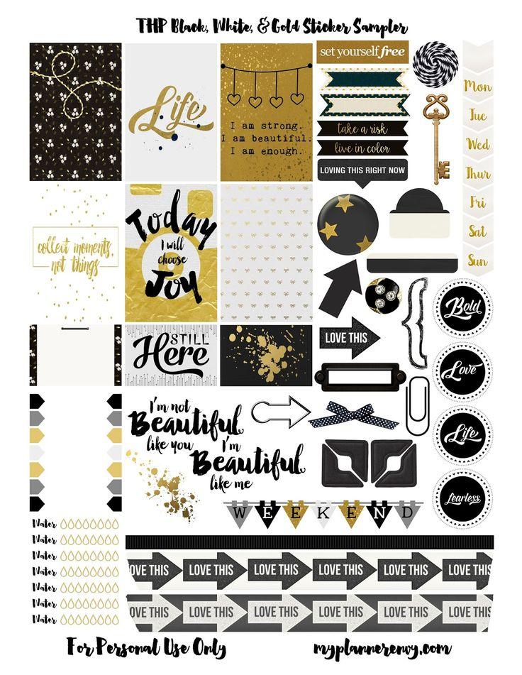 THP Black, White, & Gold Sampler | My Planner Envy
