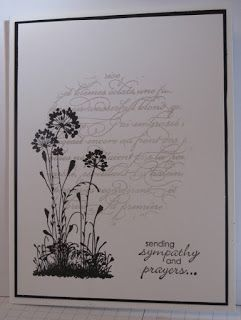 1/30/2013; Glenda Mollet at 'In My Craft Room' blog; Serene Silhouettes Sympathy card; great design for many occasions