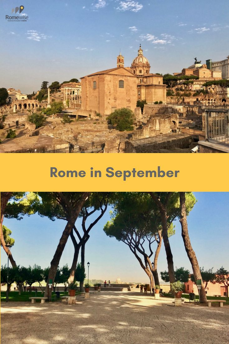 All about visiting Rome in September - what the weather's like, what to pack, and things to do - By Romewise  #rome  #italy #travel #romewise #fall