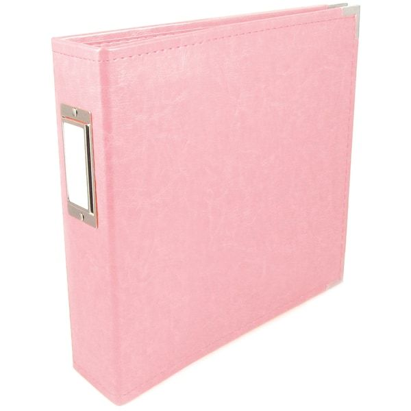 """We R Faux Leather 3-Ring Binder 6""""X6""""-Pretty Pink - Overstock Shopping - Top Rated We R Memory ..."""