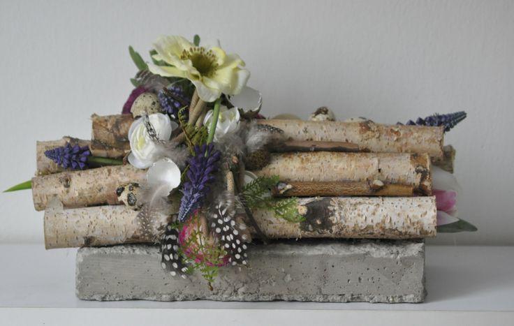 concrete easter decoration - velikonoční dekorace