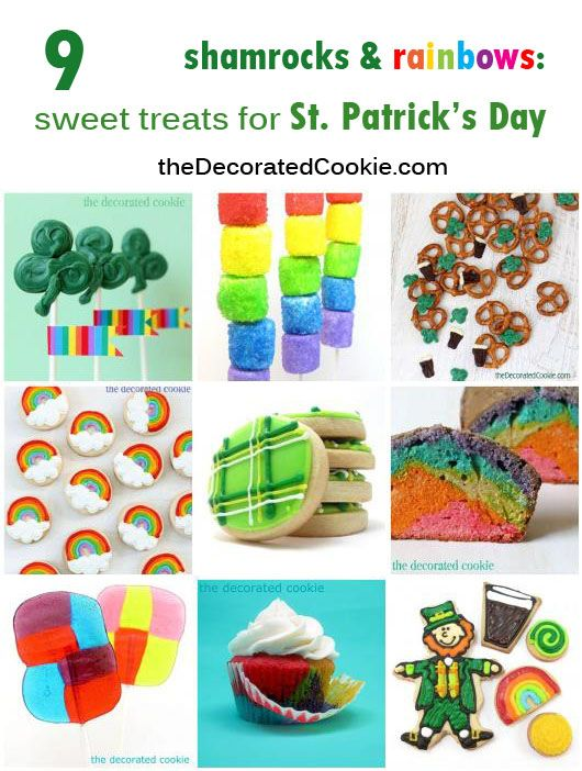 a roundup of rainbow and St. Patrick's treats
