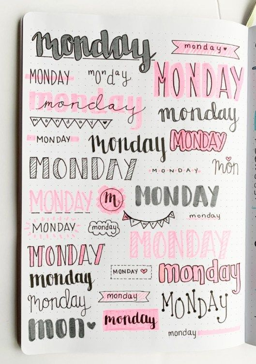 Bullet Journal Weekly Headers For You To Copy – #b…