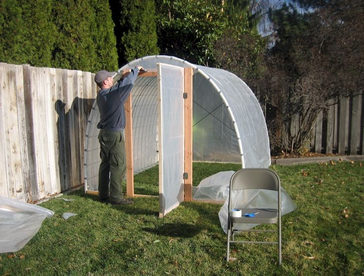 Homemade greenhouse greenhouses pinterest diy for Homemade greenhouse plastic