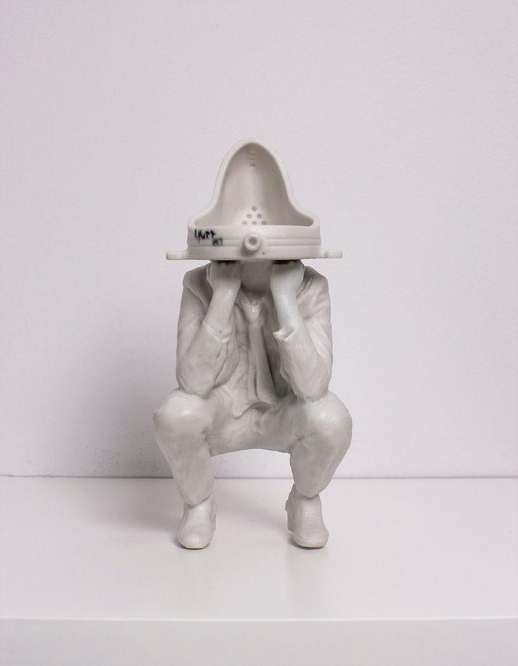 London Contemporary Art Duchamp Urinal Head - White - London Contemporary Art