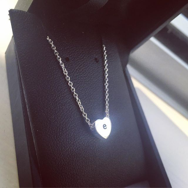 Love the lower case! #loveloops #silver #necklace #jewellery #nz #e #loveheart #withlove