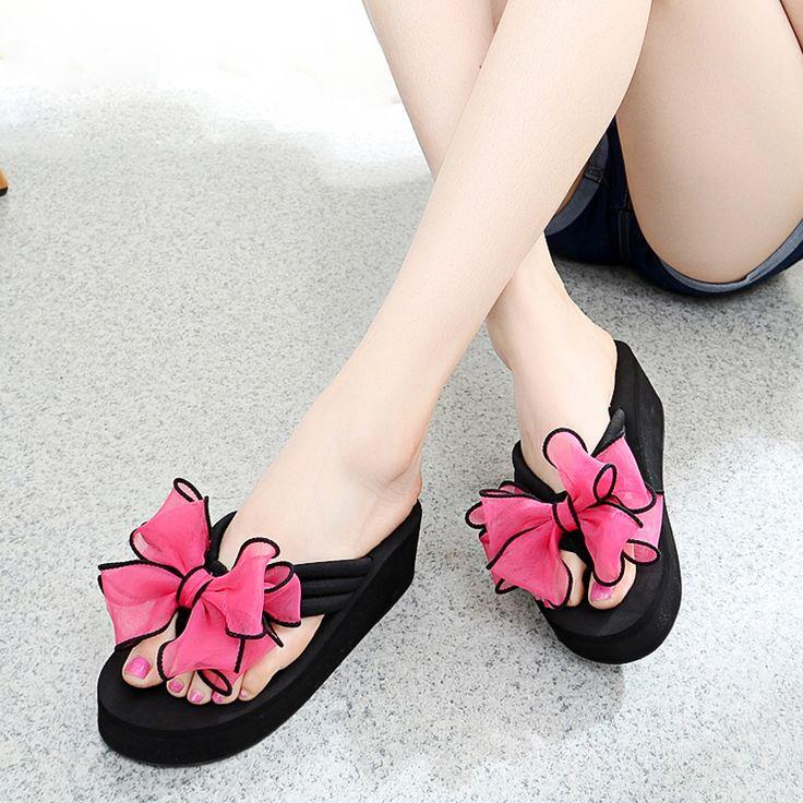 2017 New Arrival Summer bohemia shoes woman flip flop platform sandalias femininas moda women shoes beach sandals home shoes