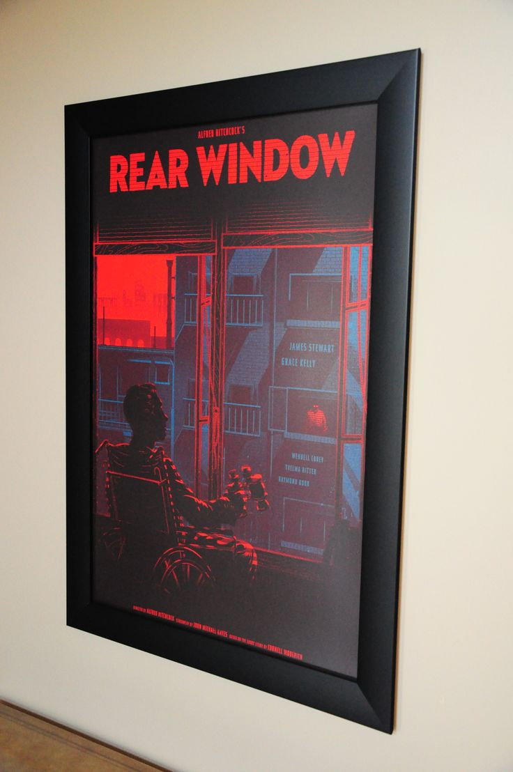 Hitchcock's Rear Window by Kevin Tong @Kevin Tong Illustration from @Mondo News framed by us @Spotlight Displays
