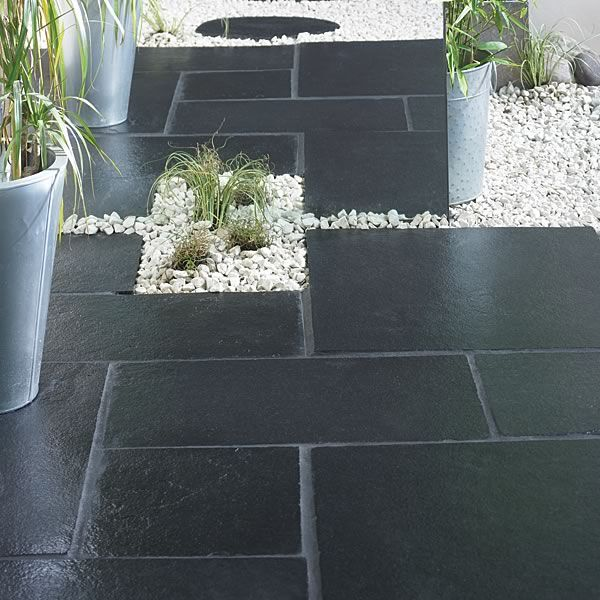 Cheap Deck Ideas | Indian limestone | Indian Limestone paving slabs | Black Limestone ...