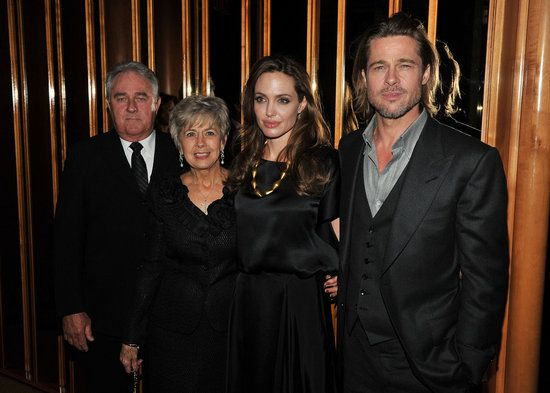 angelina and brad candids | Angelina Jolie, Brad Pitt and Brad Pitt's Parents at In the Land of ...