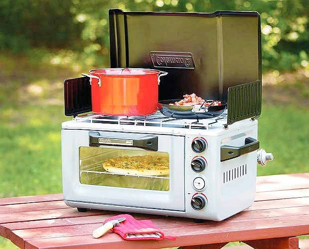 The Coleman Portable Stove/Oven features two 6,000 BTU burners and a 3,000 BTU…