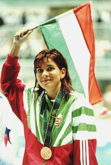 Krisztina Egerszegi the most successful Hungarian female swimmer ever. 5 Olympic Gold; 2 World Championship Gold; 9 European Championship Gold and many more medals. See: http://en.wikipedia.org/wiki/Krisztina_Egerszegi