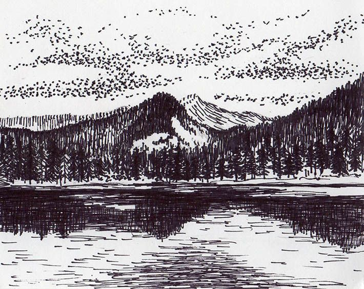 drawing draw easy mountains mountain drawings landscape simple steps pencil nature plains craftsy cool landscapes experience artsy into cartoon subject