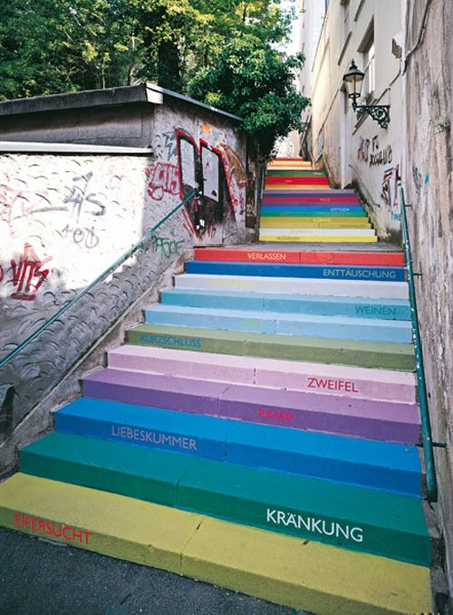 Rainbow Stairs, Wuppertal Germany