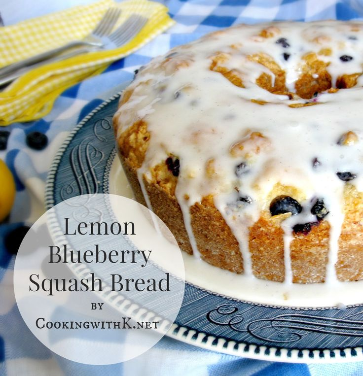 Cooking with K | Southern Kitchen Happenings: Lemon Blueberry Squash Bread