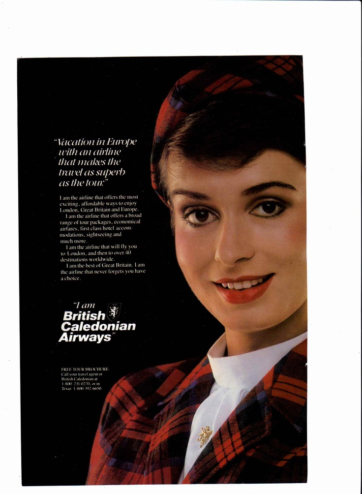 1984 British Caledonian Airways ad (#2)   National Geographic, September 1984