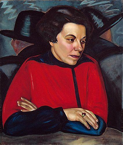 Prudence Heward. Au Café (portrait de Mabel Lockerby) avant 1930. Don de l'artiste au Musée des beaux-arts de Monrtréal