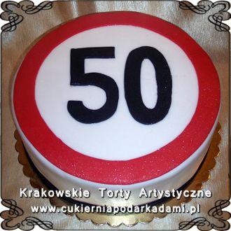 054. Tort na 50te urodziny. Cake for 50th birthday.