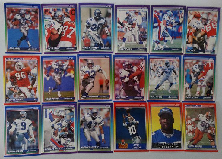 1990 Score Seattle Seahawks Team Set of 18 Football Cards #SeattleSeahawks