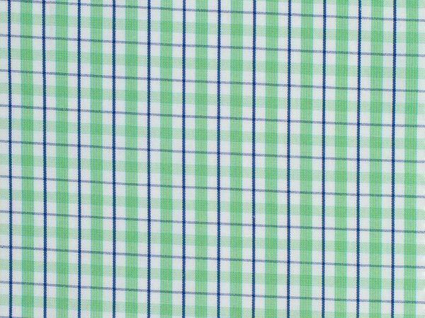 Navy, Mint Green, and White Gingham Checked Cotton