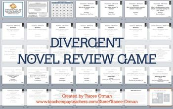 DIVERGENT Review Game: This Powerpoint (.pptx) file is fully editable and includes 30 questions in six different categories of varying degrees of difficulty. Each ...