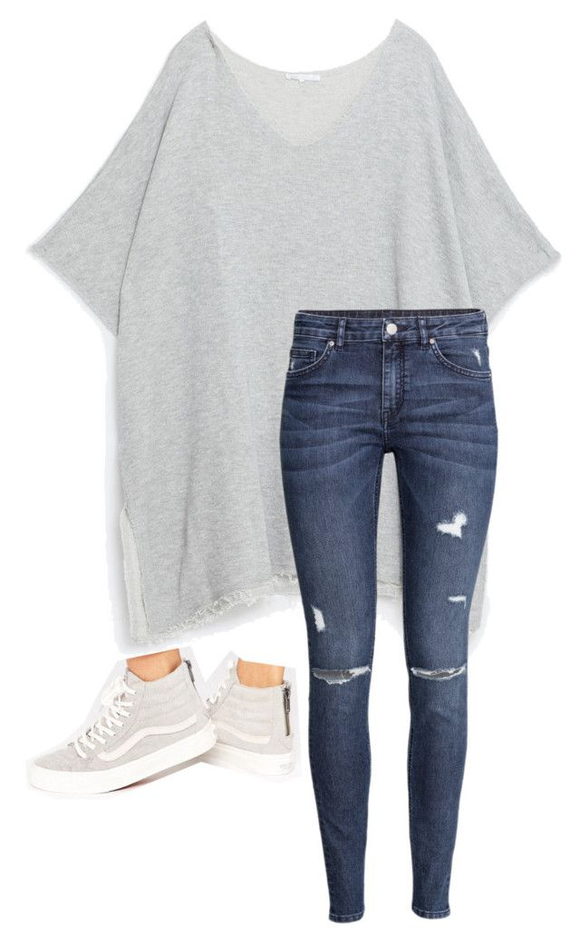 """""""Untitled #654"""" by petitaprenent ❤ liked on Polyvore featuring Zara, H&M and Vans"""