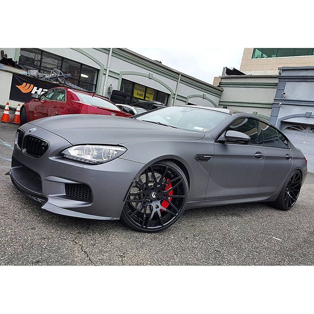 M6 Gran Coupe Wrapped Matte Grey All Trims Gloss