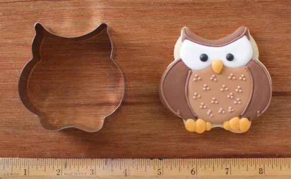 "Handmade Chubby Owl Cookie Cutter 3x3"" $5"